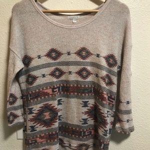 Southwestern light knit sweater C076